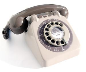 vezetékes telefonnal